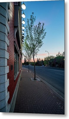 Metal Print featuring the photograph St. Anne Street At Dusk by Darcy Michaelchuk