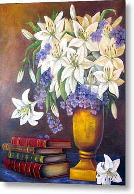 St. Anthony's Lilies Metal Print by Katia Aho