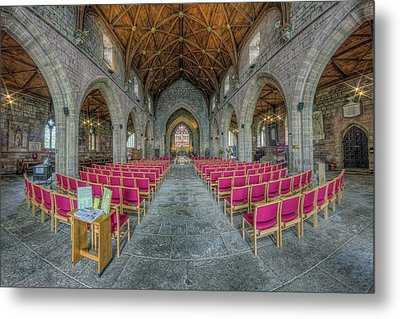 Metal Print featuring the photograph St Asaph Cathedral by Ian Mitchell