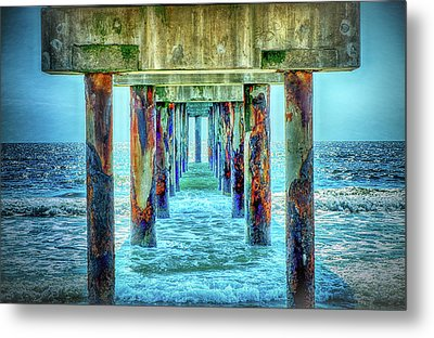 Metal Print featuring the photograph St. Augustine Beach by Louis Ferreira