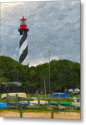 St. Augustine Lighthouse Boat Ramp Metal Print