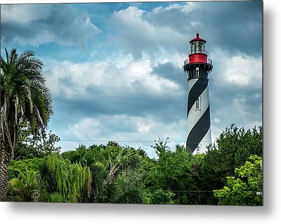 Metal Print featuring the photograph St. Augustine Lighthouse by Louis Ferreira