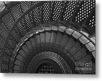 St. Augustine Lighthouse Spiral Staircase I Metal Print by Clarence Holmes