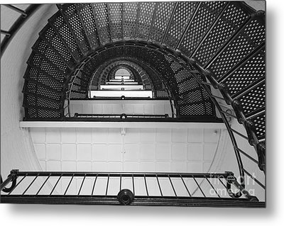 St. Augustine Lighthouse Spiral Staircase IIi Metal Print by Clarence Holmes