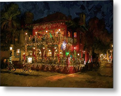 Metal Print featuring the photograph  St. Augustine Meehan's Pub by Louis Ferreira