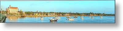Metal Print featuring the photograph St Augustine Panorama by Sebastian Musial