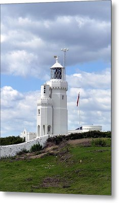 St. Catherine's Lighthouse On The Isle Of Wight Metal Print by Carla Parris