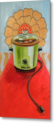 St. Crock Pot Of The Red Carpet Metal Print by Jennie Traill Schaeffer