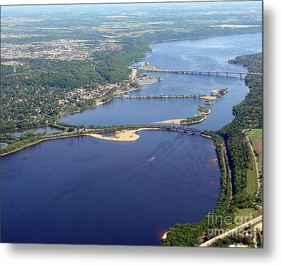 St Croix Lake And River Metal Print by Bill Lang