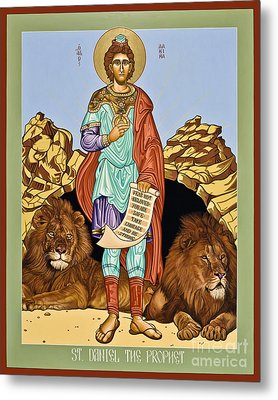 St. Daniel In The Lion's Den - Lwdld Metal Print by Lewis Williams OFS