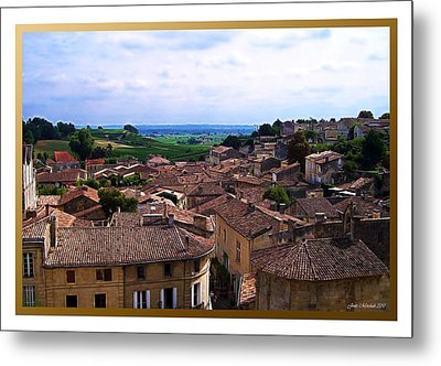 Metal Print featuring the photograph St. Emilion View by Joan  Minchak