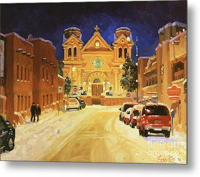St. Francis Cathedral Basilica  Metal Print by Gary Kim