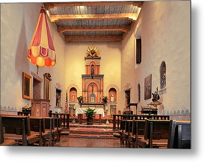 Metal Print featuring the photograph St Francis Chapel At Mission San Diego by Christine Till