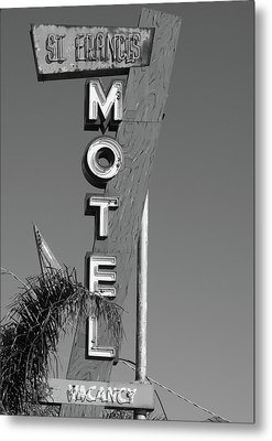 St Francis Motel Stockton Ca Metal Print by Troy Montemayor