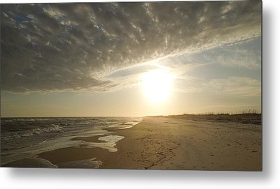 St George Island Sunset I Metal Print by Peg Toliver
