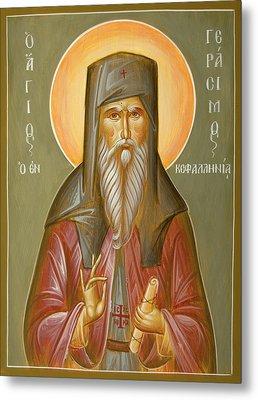St Gerasimos Of Kefalonia Metal Print by Julia Bridget Hayes