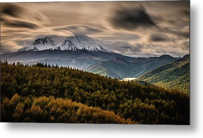 Metal Print featuring the photograph St. Helens Wrath by Dan Mihai