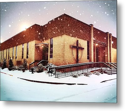 St. Isaac Jogues In The Snow Metal Print
