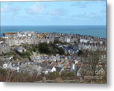 Metal Print featuring the photograph St Ives, Cornwall, Uk by Nicholas Burningham