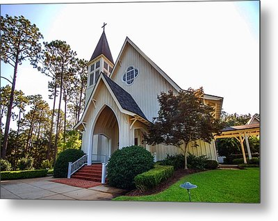 Metal Print featuring the photograph St. James V2 Fairhope Al by Michael Thomas