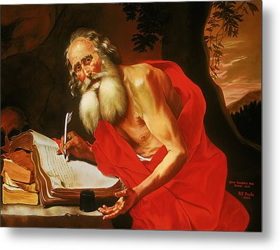 St. Jerome In The Wilderness Metal Print by Rebecca Poole
