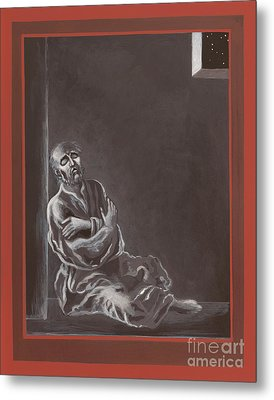 Metal Print featuring the painting  St John Of The Cross In The Dark Night Of The Soul 290 by William Hart McNichols