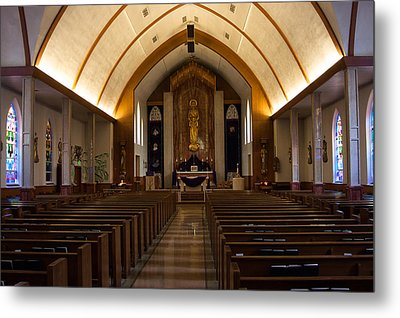 Metal Print featuring the photograph St. Josephs Catholic Church by Monte Stevens