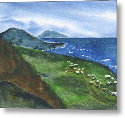 St Kitts View Metal Print