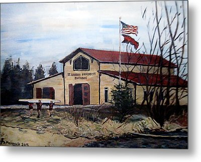 St. Lawrence Boathouse Metal Print by Denny Morreale