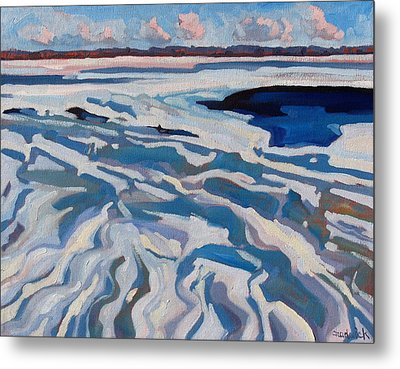 St Lawrence Ice Waves Metal Print by Phil Chadwick