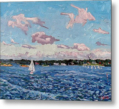 St Lawrence Sails Metal Print by Phil Chadwick