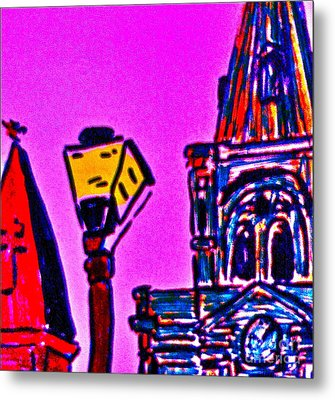 St. Louis Cathedral Abstract Metal Print by John Giardina