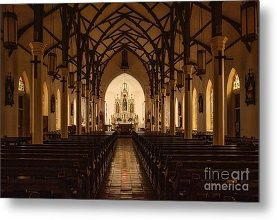 St. Louis Catholic Church Of Castroville Texas Metal Print