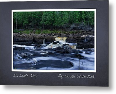 Metal Print featuring the photograph St Louis River Scrapbook Page 1 by Heidi Hermes