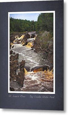 Metal Print featuring the photograph St Louis River Scrapbook Page 3 by Heidi Hermes