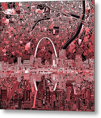 St Louis Skyline Abstract 3 Metal Print