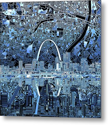 St Louis Skyline Abstract 5 Metal Print