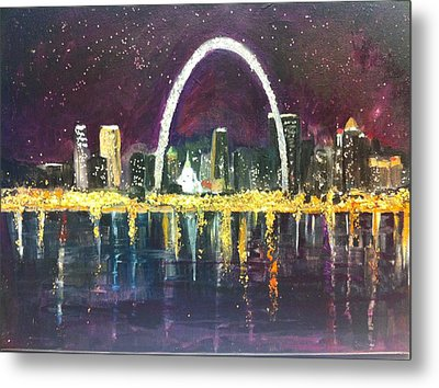 St. Louis Skyline Metal Print by Made by Marley