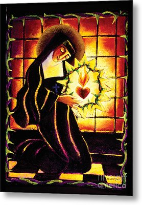 St. Margaret Mary Alacoque - Mmmma Metal Print