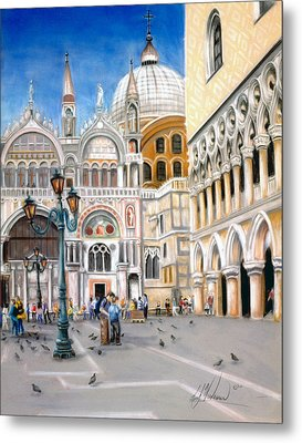 St. Marks Square Metal Print by Leah Wiedemer