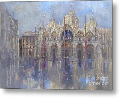St Mark's -venice Metal Print by Peter Miller
