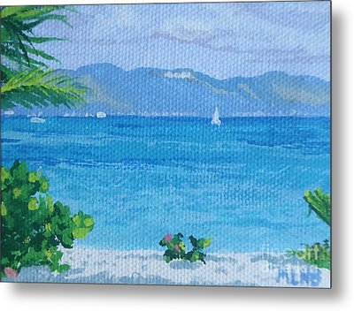 St Martin From Anguilla Metal Print by Margaret Brooks