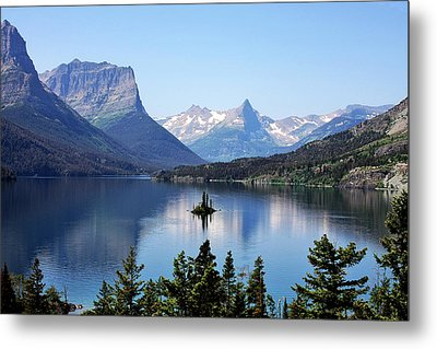 St Mary Lake - Glacier National Park Mt Metal Print