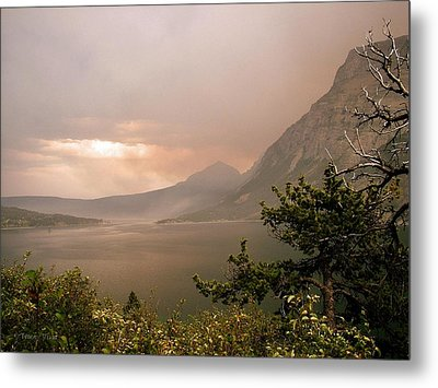 St Mary Lake In The Smoke Metal Print