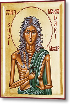 St Mary Of Egypt  Metal Print by Julia Bridget Hayes