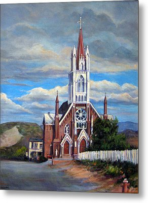 Metal Print featuring the painting St. Mary Of The Mountains by Donna Tucker