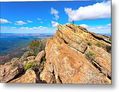 Metal Print featuring the photograph St Mary Peak by Bill  Robinson