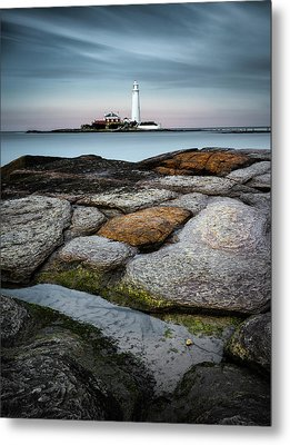 St Mary's Lighthouse Metal Print
