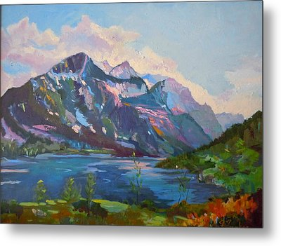 St. Marys Lake Glacier National Park Metal Print