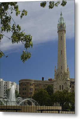 St Mary's Water Tower Metal Print
